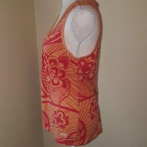 Roxy Tops - Orange and Pink/red Roxy Floral Tank